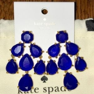 SALE! kate spade royal blue earrings nwt